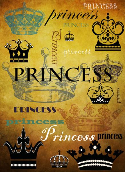Wall Art - Mixed Media - Princess 1 by Angelina Tamez