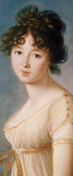 Blue Dress Painting - Princess Aniela Angelique Czartoryska Nee Radziwill by Elisabeth Louise Vigee-Lebrun