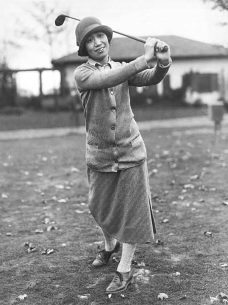 Photograph - Princess Asaka Golfing by Underwood Archives