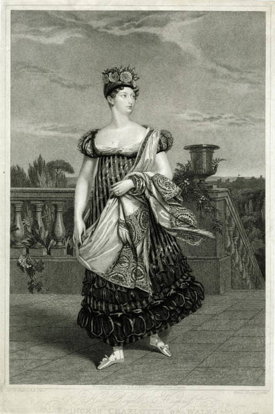 Wall Art - Drawing - Princess Charlotte Only Daughter by Mary Evans Picture Library