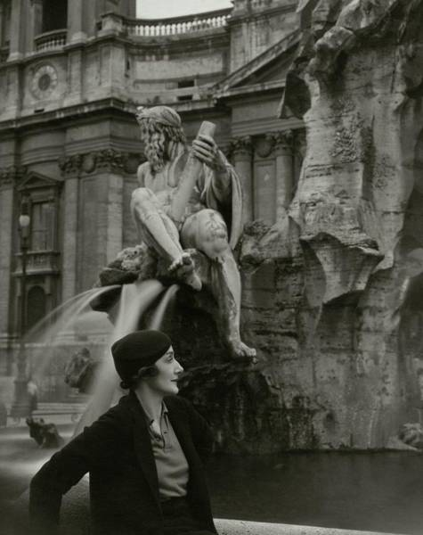 Architecture Photograph - Princess Eugenio Ruspoli In Rome by George Hoyningen-Huene