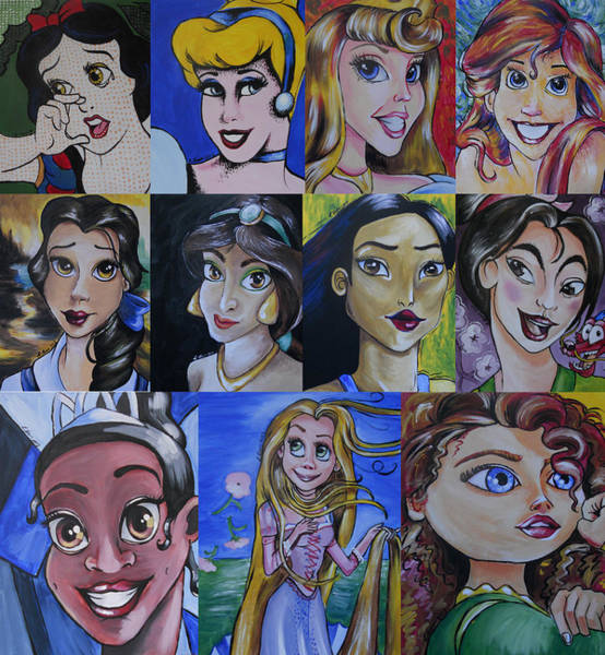 Wall Art - Painting - Princess-fine Art Mash-up by Lisa Leeman