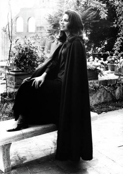 Shrub Photograph - Princess Ira Furstenburg Beside A Bench In Rome by Elisabetta Catalano