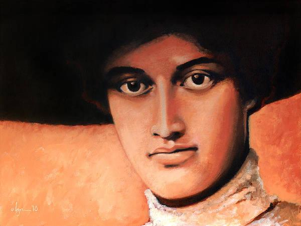 Painting - Princess Kaiulani Portrait by Angela Treat Lyon