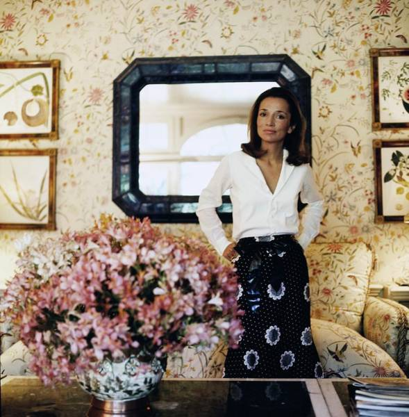Country House Photograph - Princess Lee Radziwill At Turville Grange by Horst P. Horst