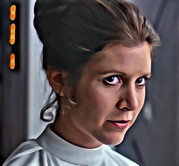 Painting - Princess Leia by Florian Rodarte