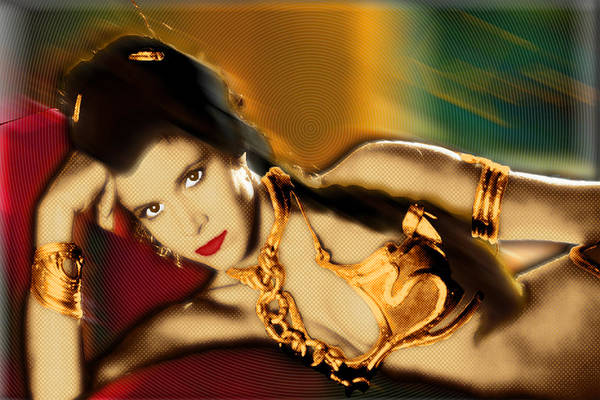Painting - Princess Leia Star Wars Episode Vi Return Of The Jedi 1 by Tony Rubino