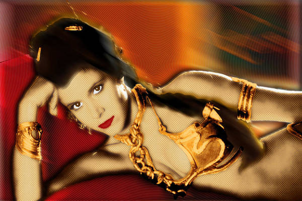 Painting - Princess Leia Star Wars Episode Vi Return Of The Jedi 2 by Tony Rubino