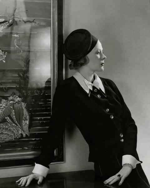 Wall Art - Photograph - Princess Natalia Paley Wearing A Lucien Lelong by Edward Steichen