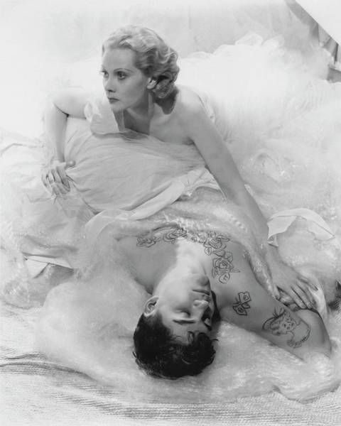 Lying Down Photograph - Princess Natalie Paley And Victor Kraft by Cecil Beaton