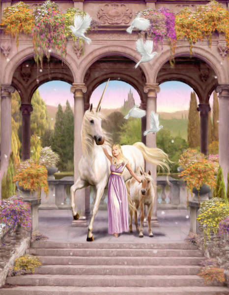 Foal Photograph - Princess Of The Unicorns Variant 1 by MGL Meiklejohn Graphics Licensing