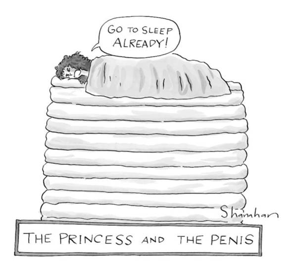November 1st Drawing - Princess On Top Of A Lot Of Mattresses by Danny Shanahan