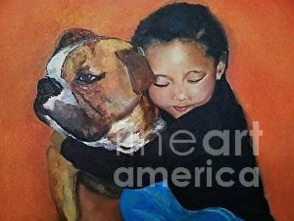 English Bulldog Painting - Princess Zz by Kathleen Bush