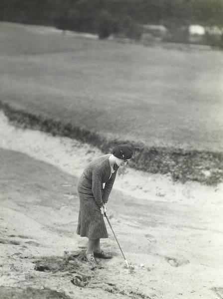 Bending Over Photograph - Princesse De Beauvau-craon Playing Golf by George Hoyningen-Huene