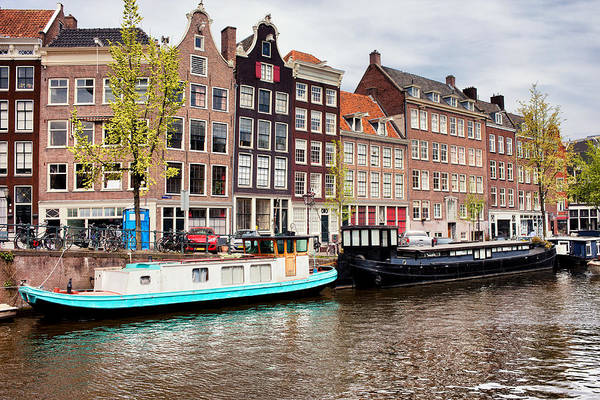 Houseboat Photograph - Prinsengracht Canal In Amsterdam by Artur Bogacki