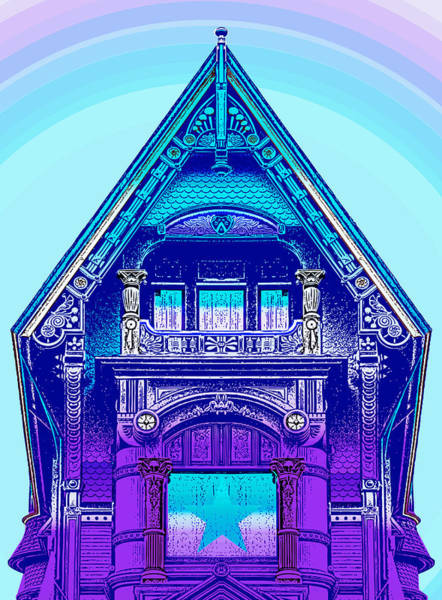 Home Digital Art - Victorian Gable by Greg Joens