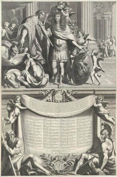 Olive Branch Drawing - Print Of Aegidius Le Maistre, 1665, Print Maker Nicolas by Nicolas Pitau I And Richer And J. Le Pautre
