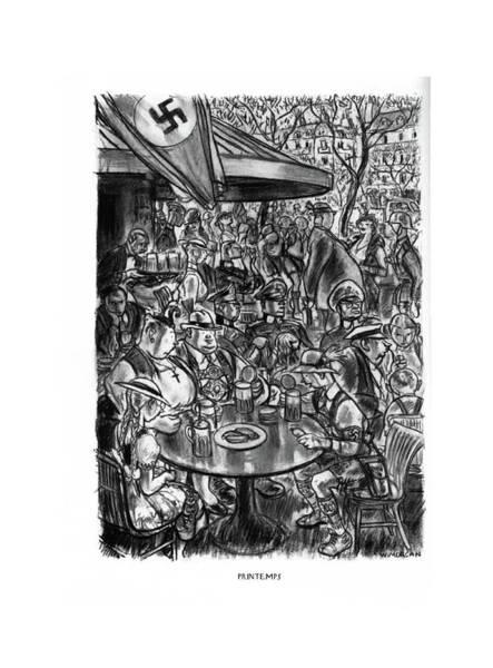 Hitler Drawing - Printemps by Wallace Morgan