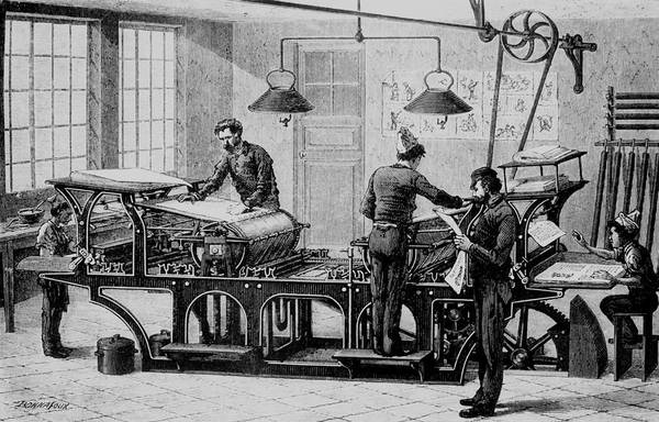 Printing Photograph - Printery During The 19th Century. by Science Photo Library