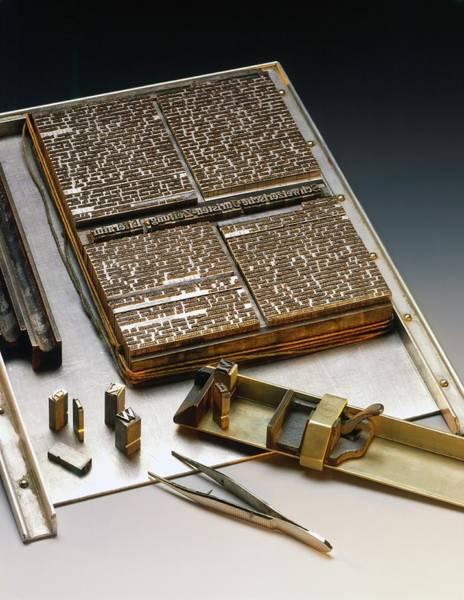 Printing Photograph - Printing Plates by Ton Kinsbergen