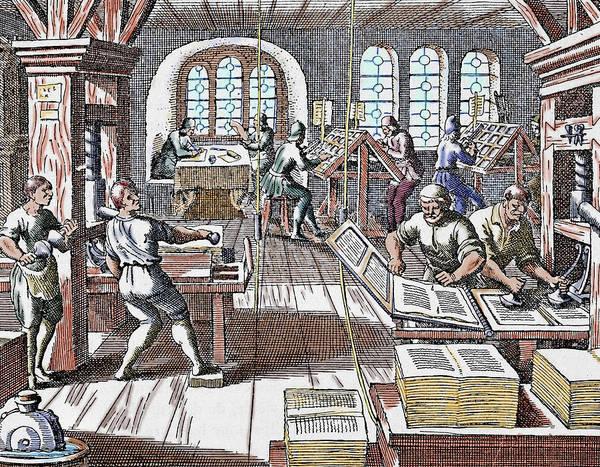 Work Of Art Photograph - Printing Press Seventeenth Century by Prisma Archivo