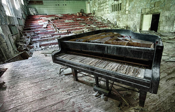 Messy Photograph - Pripyat Concert Hall by Oktay Ortakcioglu