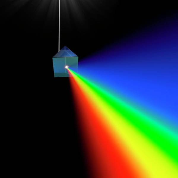 Photograph - Prism And Spectrum Abstract by David Parker
