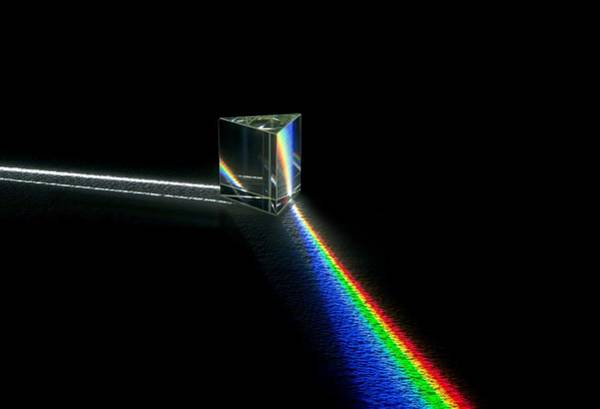 Wavelength Photograph - Prism And Spectrum by David Parker