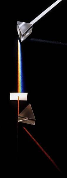 Optics Photograph - Prism Splitting White Light Ray by Dorling Kindersley/uig