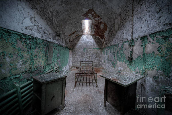Pa Photograph - Prison Cell At Eastern State Penitentiary by Michael Ver Sprill