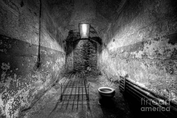Nikon D800 Wall Art - Photograph - Prison Cell Black And White by Michael Ver Sprill