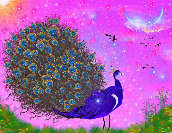 Digital Art - Prissy Peacock by Lora Mercado