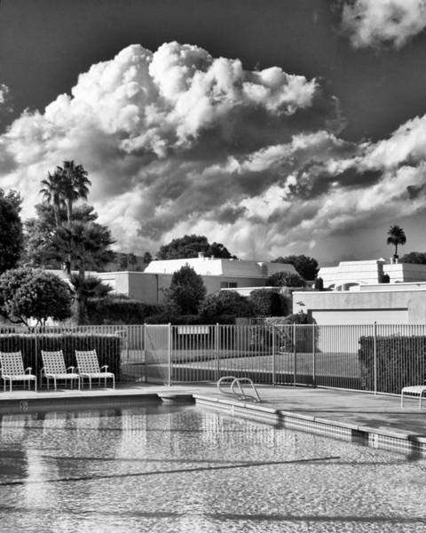 Wall Art - Photograph - Pristine Pool Bw Marrakesh Palm Springs by William Dey