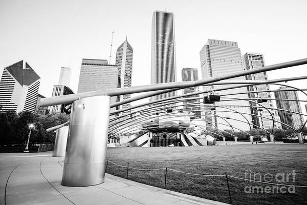 Chicago Black White Wall Art - Photograph - Pritzker Pavilion Chicago Black And White Picture by Paul Velgos