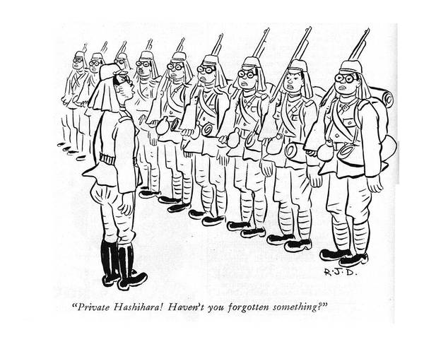 Battle Drawing - Private Hashihara! Haven't You Forgotten by Robert J. Day