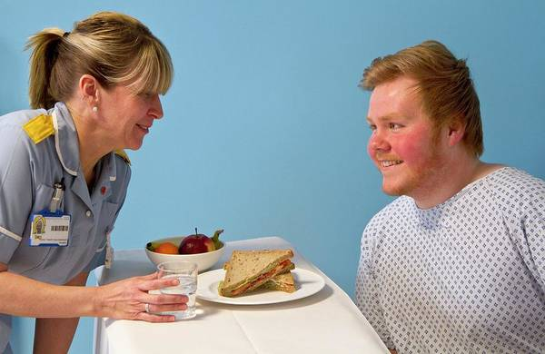 British Food Photograph - Private Hospital Lunch by Life In View/science Photo Library