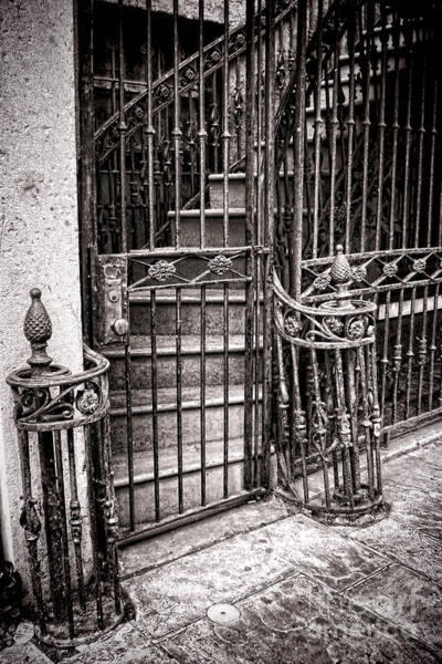 Lock Gates Photograph - Private Stairway  by Olivier Le Queinec
