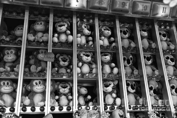 Photograph - Prizes At The Fair Mono by John Rizzuto