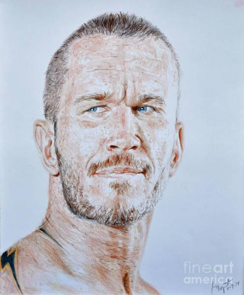 Pro Wrestler Wall Art - Drawing - Pro Wrestling Legend Randy Orton by Jim Fitzpatrick