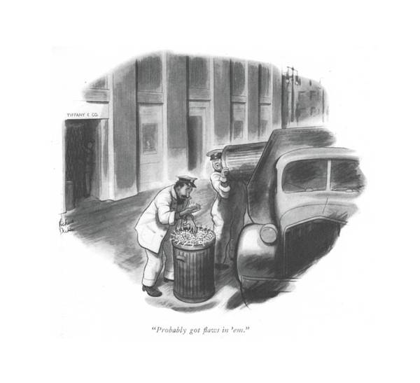 Trash Drawing - Probably Got ?aws In 'em by Richard Decker