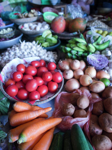 Hoi An Photograph - Produce For Sale In A Market In Hoi An by David H. Wells