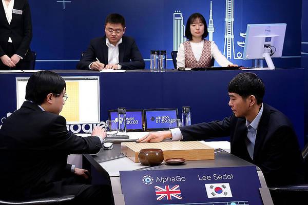 Professional 'go' Player Lee Se-dol Plays Google's Alphago - Last Day Art Print by Handout