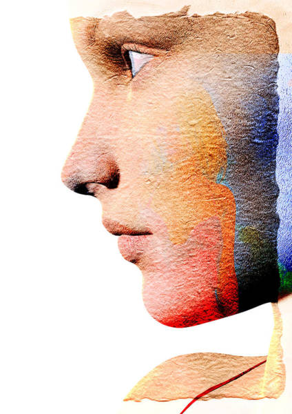Nose Digital Art - Profile Of A Woman by David Ridley