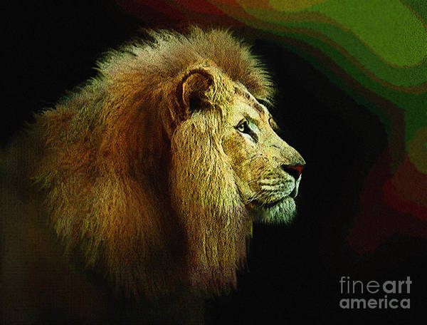 Wall Art - Painting - Profile Of The Lion King by Robert Foster