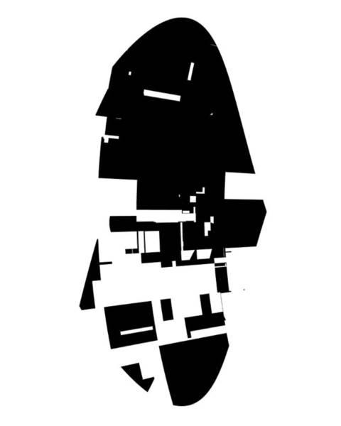 Elation Digital Art - Profile With Shadow by Kenneth Keller