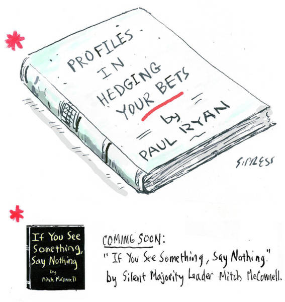 Book Illustration Drawing - Profiles In Hedging Your Bets by David Sipress