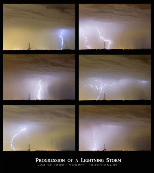 Photograph - Progression Of A Lightning Storm by James BO Insogna