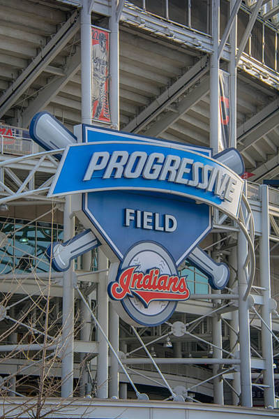 Photograph - Progressive Field by Guy Whiteley