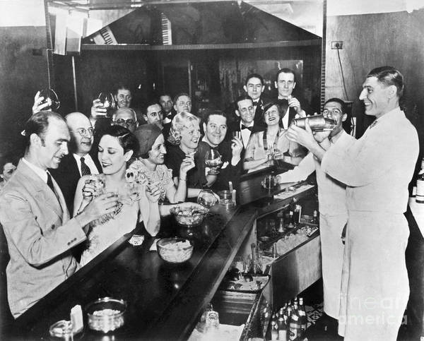 Cocktail Shaker Photograph - Prohibition Repeal, 1933 by Granger