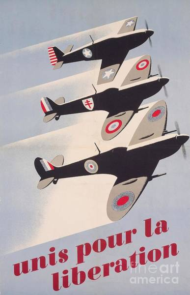 Advertising Drawing - Propaganda Poster For Liberation From World War II by Anonymous